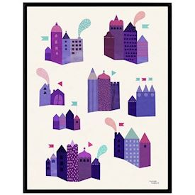 Michelle Carlslund - Purple Houses