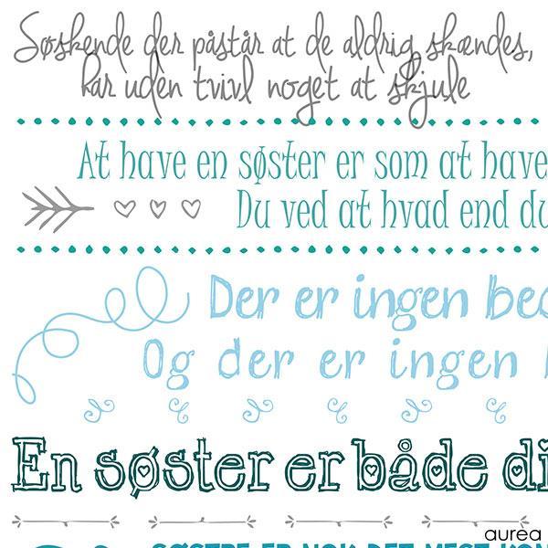 søde citater til søster Søster plakat   farver søde citater til søster