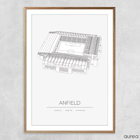 Plakat - Anfield - Liverpool FC stadion