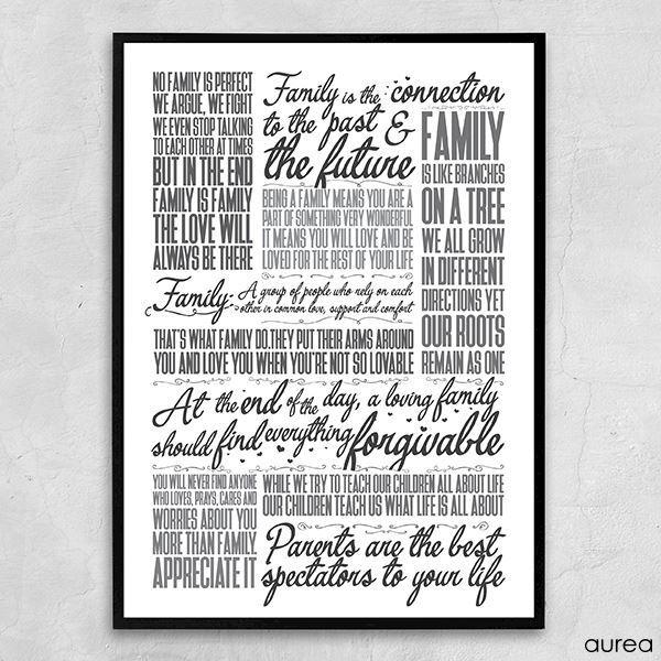 401824f4 Plakat - Family, sort/hvid. Køb online