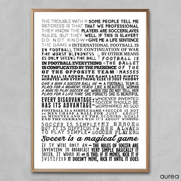 citater om fodbold Plakat   Fodbold citater citater om fodbold