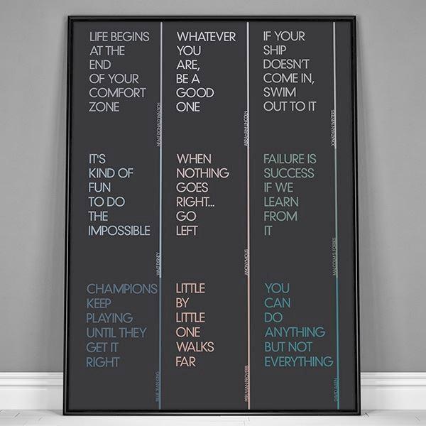 motivations citater Plakat   Små citater om motivation motivations citater