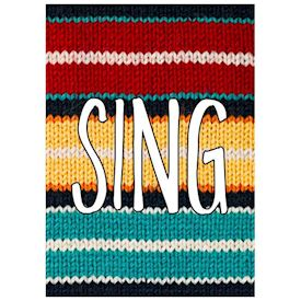 Plakat Knitted Happy Words - SING