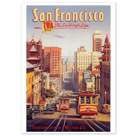 Retro Plakat - San Francisco