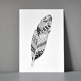 Postkort A5 - Zendoodle Feather