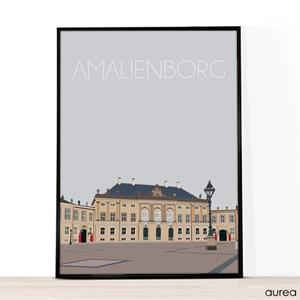 A4 illustration med Amalienborg
