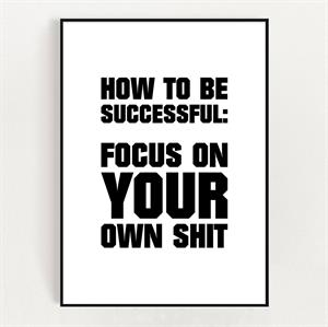 Postkort  A5 - How to be successful