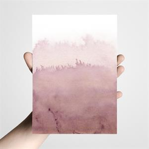 Postkort  A5 - Watercolor fading old pink