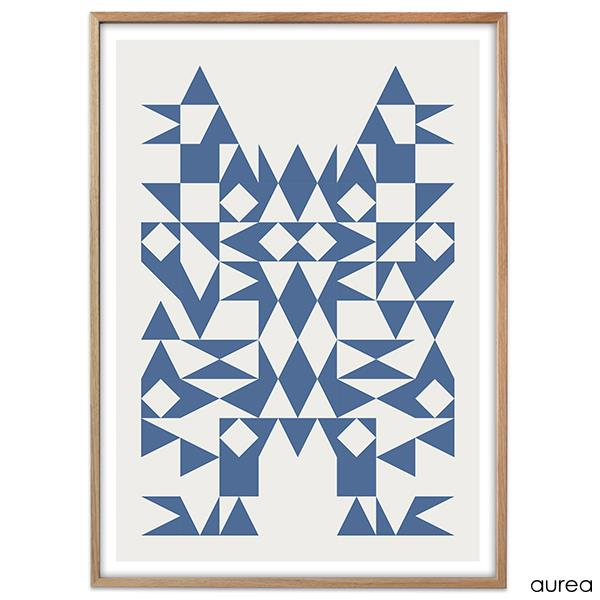 Plakat - I love triangles, Blue