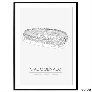 Plakat - Stadio Olimpico - AS Roma