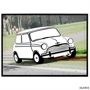Plakat - Mini Cooper Retro
