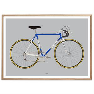 Plakat - Racing Bike Blue