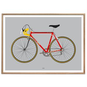 Plakat - Racing Bike Red