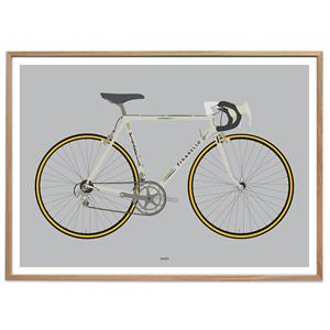 Plakat - Racing Bike White