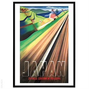 Plakat - Japanese railway retro