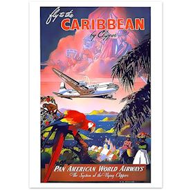 Retroplakat - Caribbean Clipper