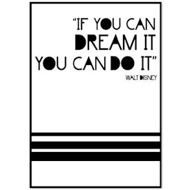 Citat Plakat - Dream it Do it