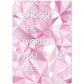 "Plakat ""Light"" - Choose the world"