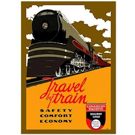 Retro Plakat Canadian Pacific