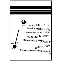 Citat Plakat - Today is a gift
