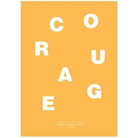 Wordpuzzle Plakat - Courage