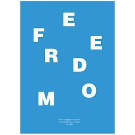 Wordpuzzle Plakat - Freedom