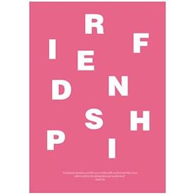 Wordpuzzle Plakat - Friendship