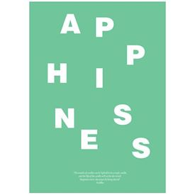 Wordpuzzle Plakat - Happiness