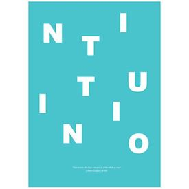Wordpuzzle Plakat - Intuition