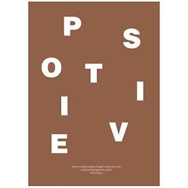 Wordpuzzle Plakat - Positive