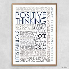 Plakat med citater om positive thinking