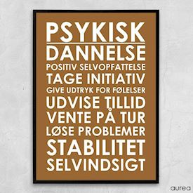 Plakat - Plakat til institution - Psykisk dannelse
