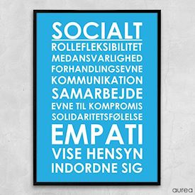 Plakat - Plakat til institution - Socialt