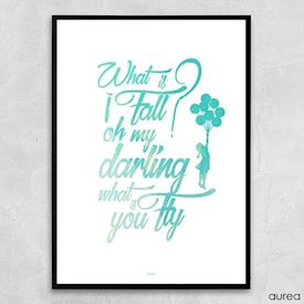 Plakat - Oh my darling what if you fly, colors