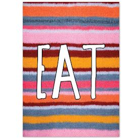 Plakat Knitted Happy Words - EAT