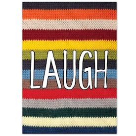 Plakat Knitted Happy Words - LAUGH