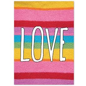 Plakat Knitted Happy Words - LOVE