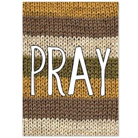 Plakat Knitted Happy Words - PRAY