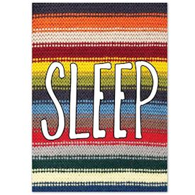 Plakat Knitted Happy Words - SLEEP