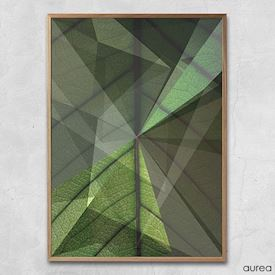Plakat - Graphical green leaf