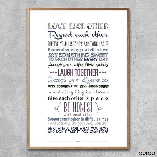 Plakat - Love each other, colors