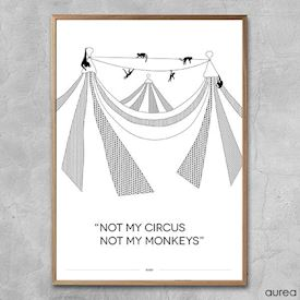 Plakat - Not my circus, not my monkeys!