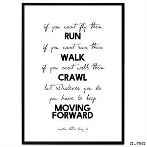 Plakat - If you can't fly then run. If you can't run then walk...