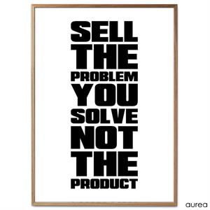 Plakat - Sell the problem