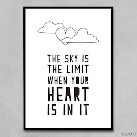 Plakat the sky is the limit