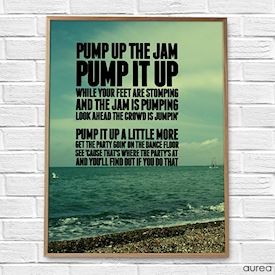Plakat med citat pump it up