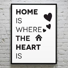 Plakat - Home is where the heart is