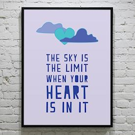 Plakat The sky is the limit - colors