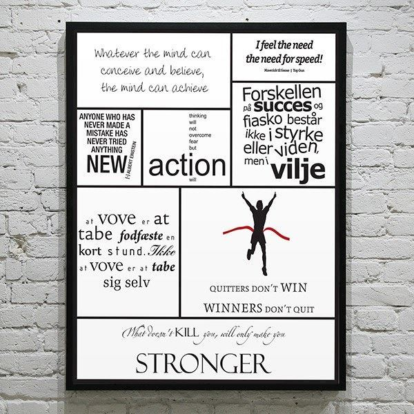 citater om viljestyrke Plakat med Citatcollage   Viljestyrke citater om viljestyrke