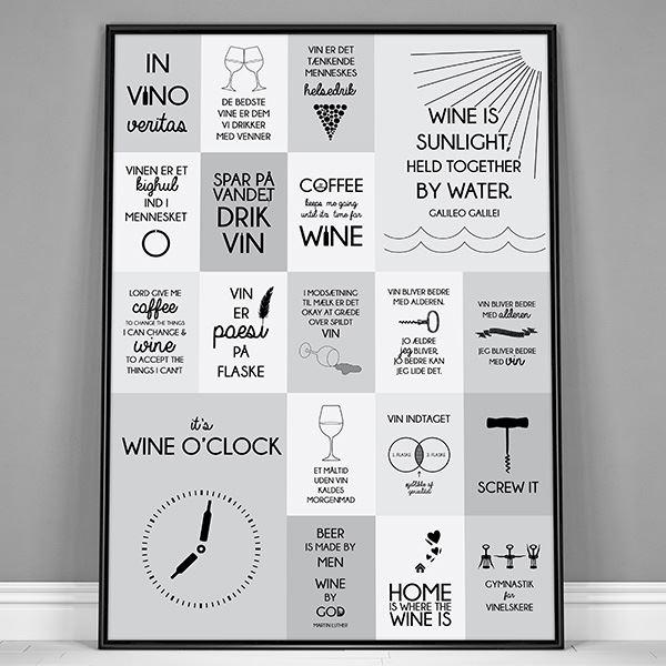 vin citater Plakat til vinelskere med citater om vin   Grålige nuancer vin citater